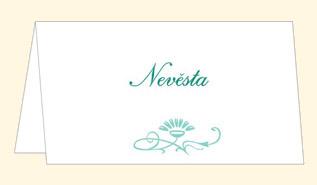 jmenovka na svatební stůl