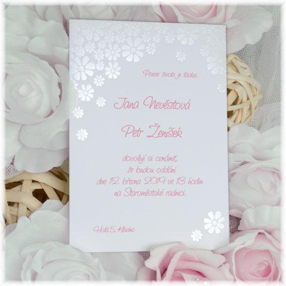 Originální květinové svatební oznámení