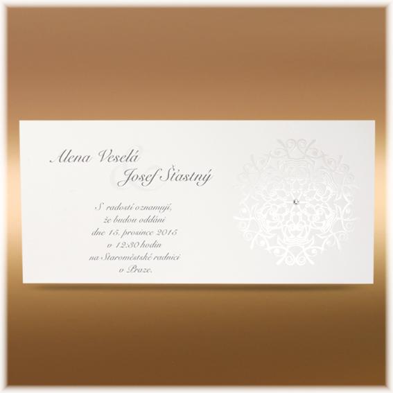 Jednoduché svatební oznámení