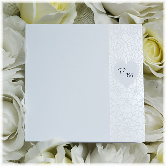 Glossy wedding invitation