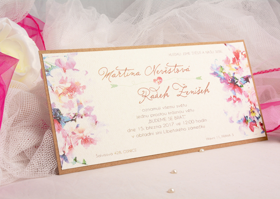 Flower floral wedding invitation