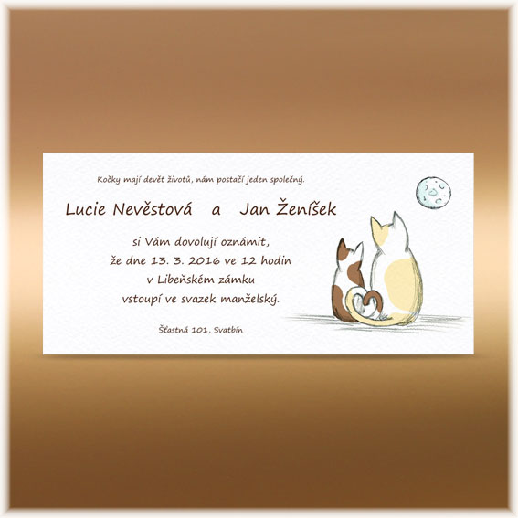 Simple Wedding Invitations Cats