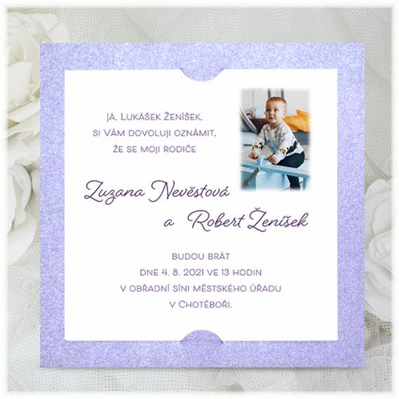 Modern Child Wedding Invitations