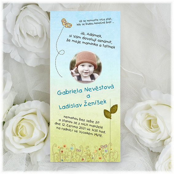 Funny Wedding Invitations with child
