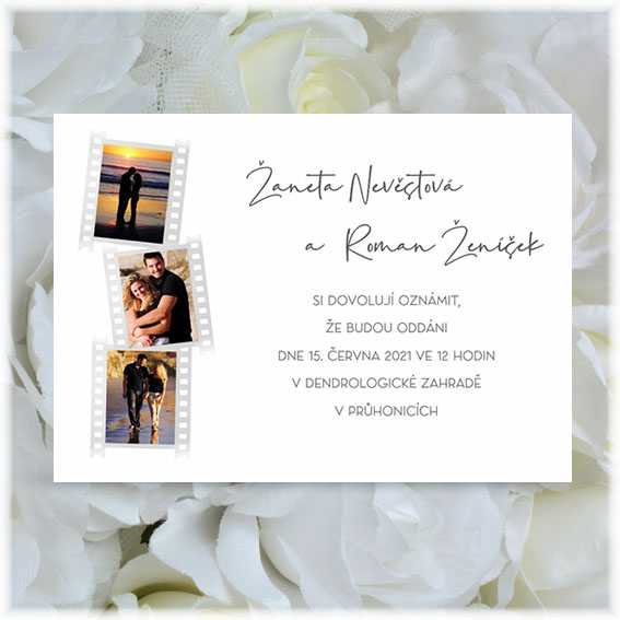 Wedding Invitation photo film