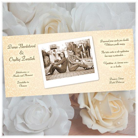 Photo Wedding Invitations ivory