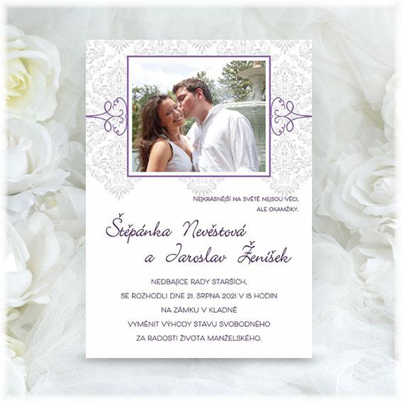 Simple Photo Wedding Invitation