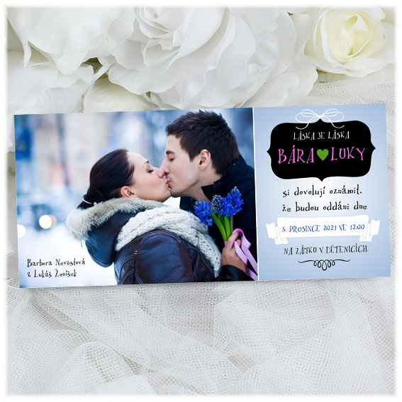 Photo wedding invitation.