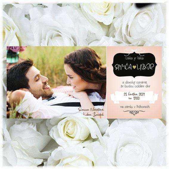 Svadobné oznámenia s fotografiou