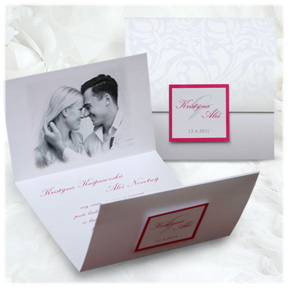 Luxury wedding invitation with photo