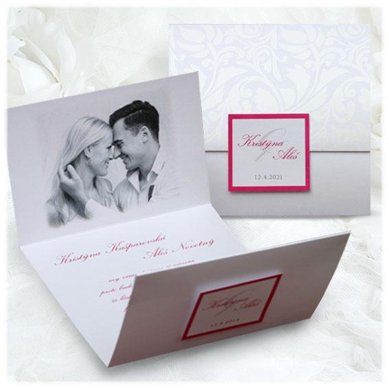 Otváracia svadobné oznámenia s fotografiou