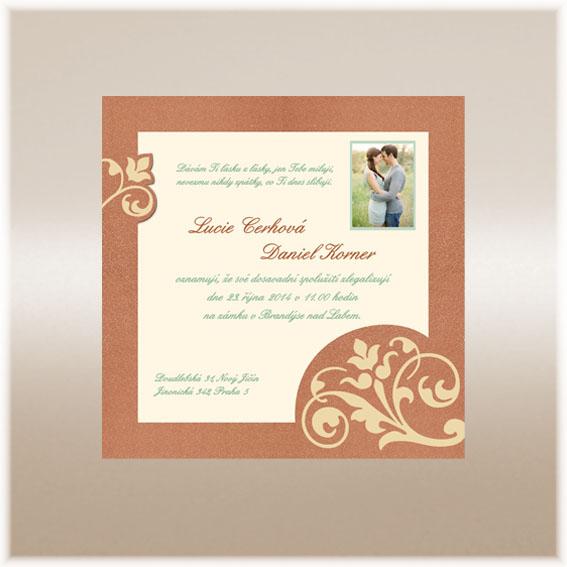 Golden Wedding Invitation