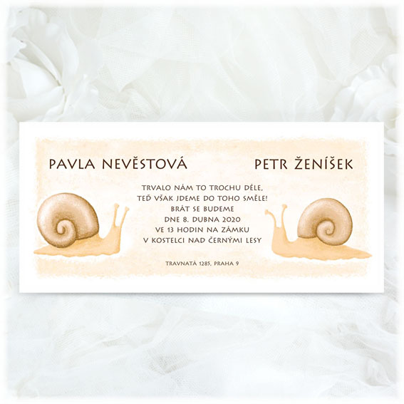 Funny Snails Wedding Invitation