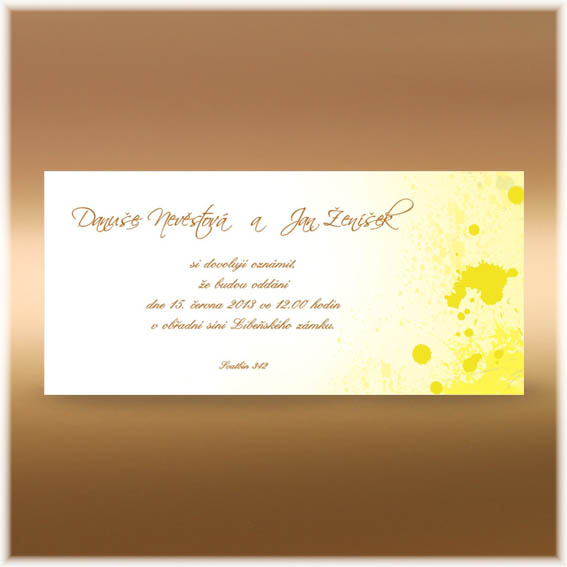 Yellow Wedding Invitation blobs