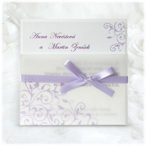 Svadobné oznámenia fialové