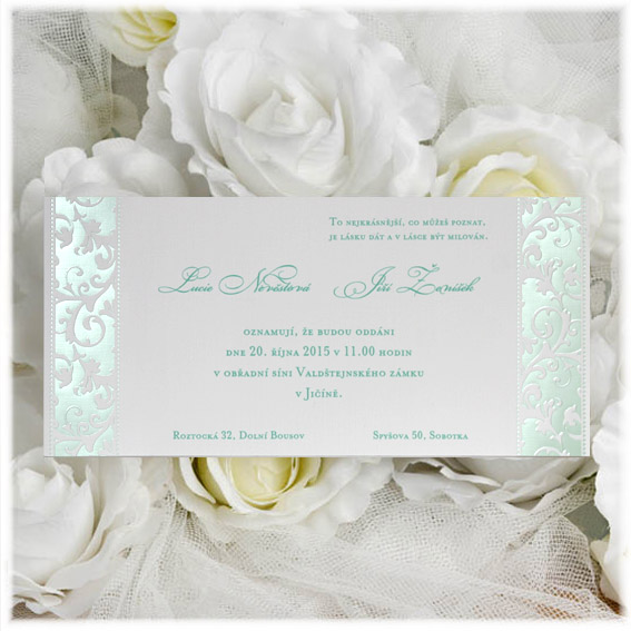 Cheap Modern Design Wedding Invitations Mint