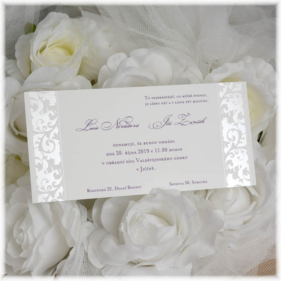 Classic Wedding Invitations Embossed