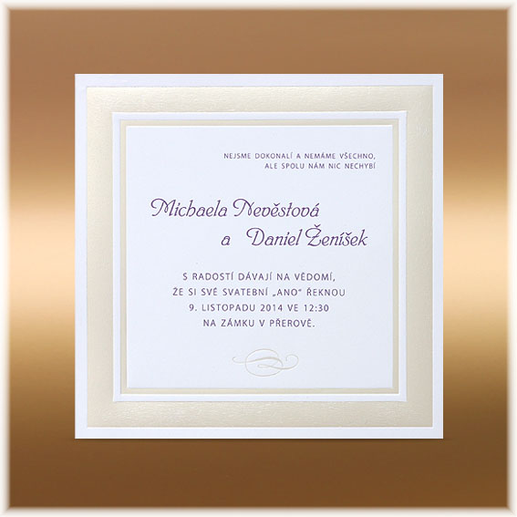 Wedding Invitations Embossed with Frame