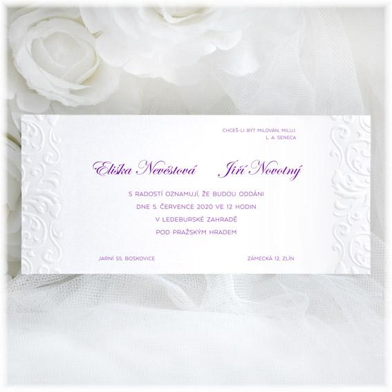 Svatební oznámení s ornamenty