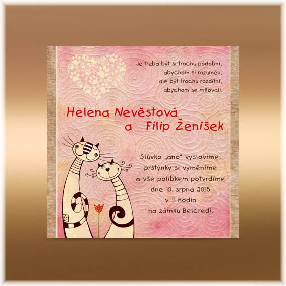 Funny Wedding Invitations with cats