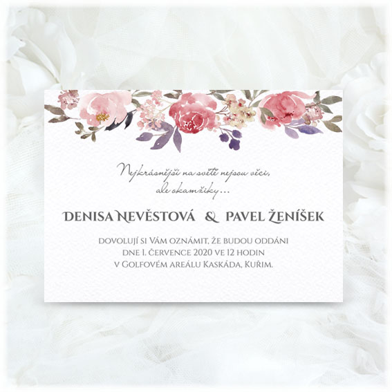 Wattercolor Wedding Invitations
