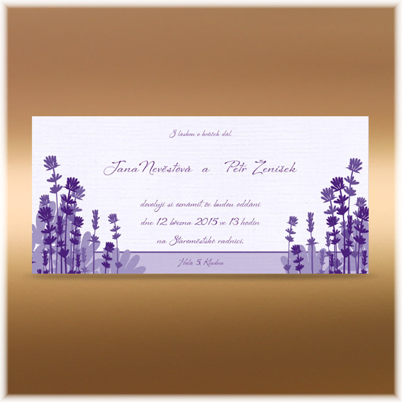 Wedding Invitation Lavender
