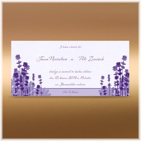 Svatební oznámení levandule