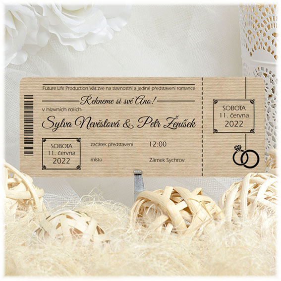 Wedding Invitations ticket