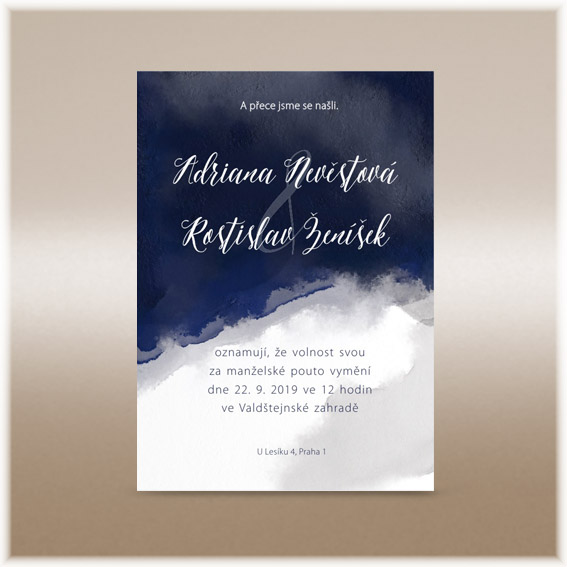 Moderní pozvánky na svatbu
