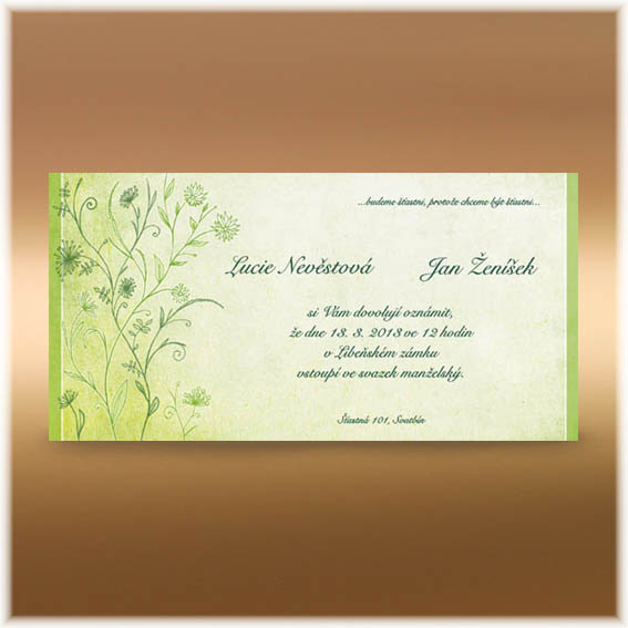 Meadow Wedding Invitation green
