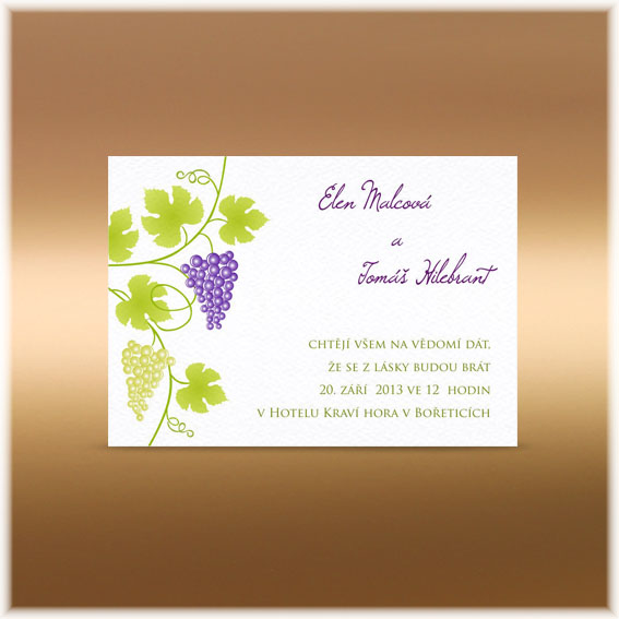 Grapes Wedding Invitations