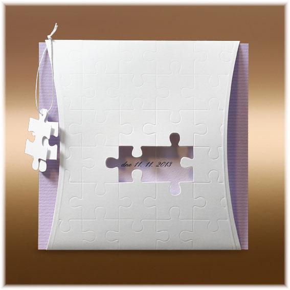 Svadobné oznámenie puzzle