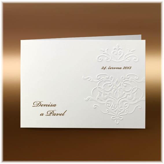 Svatební oznámení s reliéfní ražbou