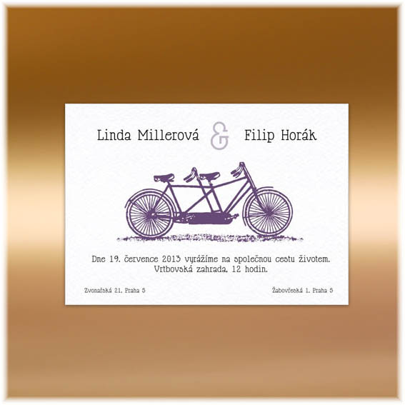 Double Bike Wedding Invitations