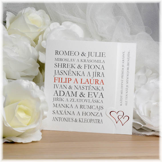 Wedding Invitations VIP Couples celebrities