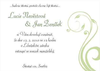 Levné svatební oznámení