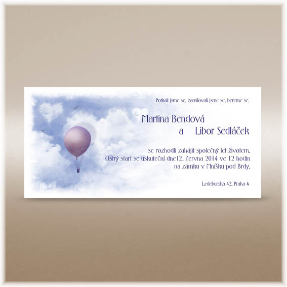 Baloon Wedding Invitations