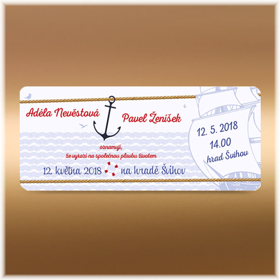 Wedding Invitation as boarding pass