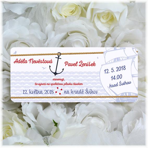 Svadobné oznámenia ako palubný lístok