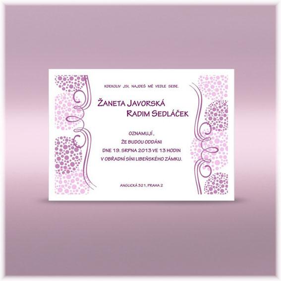 Svatební oznámení sk246