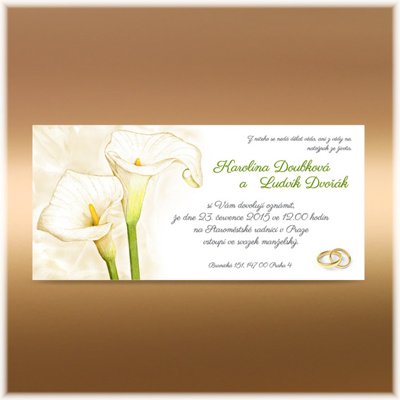 Calla Wedding Invitations