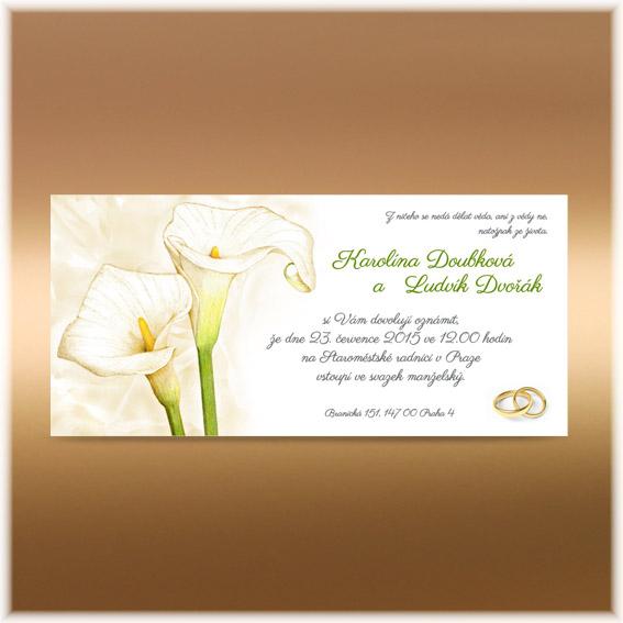 Svatební oznámení kaly