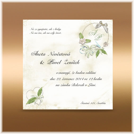 Vintage Wedding Invitations romantic