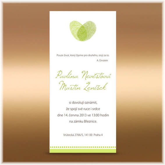 Fingerprints Wedding Invitations