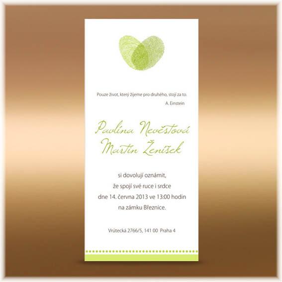 Fingerprints Wedding Invitations
