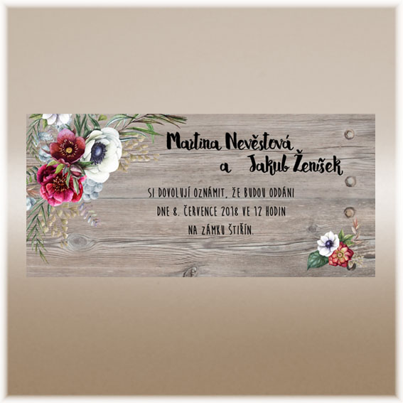 Wedding Invitations with flowers pattern