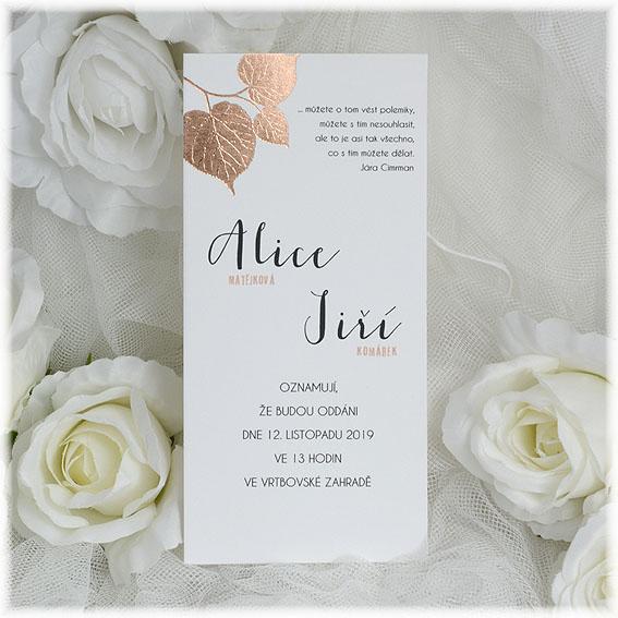 Jesenné svadobné oznámenia