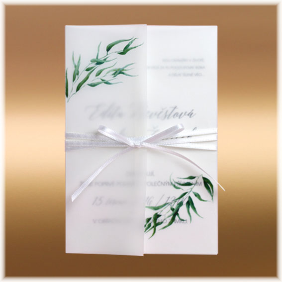 Transparent Pocket Wedding Invitation