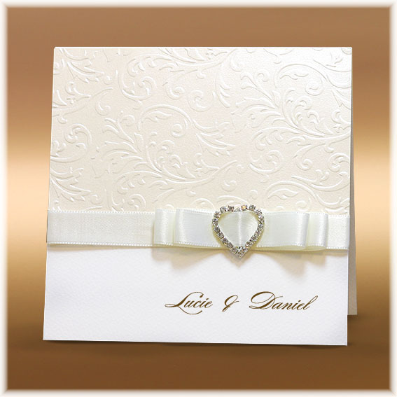 Luxury Wedding Invitations with Buckle and Ribbon