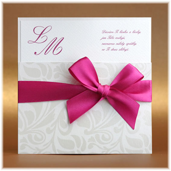 Luxury Wedding Invitations with ribbon